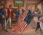 """Betsy Ross Presenting the Flag to Washington"""
