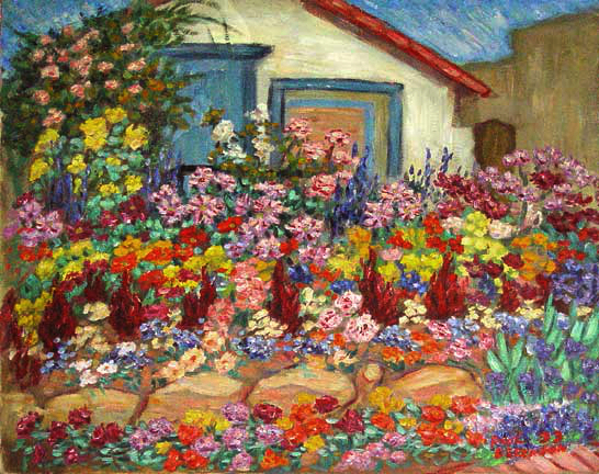 carols flowers flower gardens oil painting and prints by pointillisticimpressionist painter paul - Flower Garden Paintings