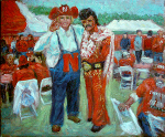 """Herbie and Husker Elvis at the 2009 Holiday Bowl Huskerpedia Tailgate Party"""
