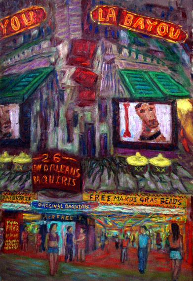 """La Bayou"" Las Vegas oil painting and prints by Pointillistic/Impressionist painter Paul Berenson"