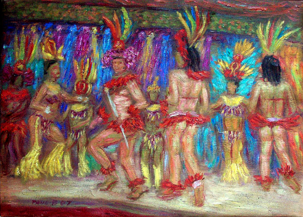 Samba in Rio 2 Brazil Samba oil painting and prints by Pointillistic/Impressionist painter Paul Berenson